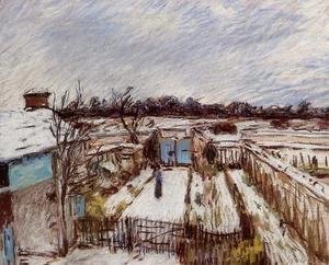 Alfred Sisley - Snow Effect at Veneux