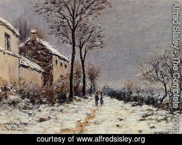 Alfred Sisley - Snow Effect at Veneux I