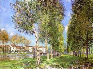 Alfred Sisley - The Lane of Poplars at Moret-Sur-Loing