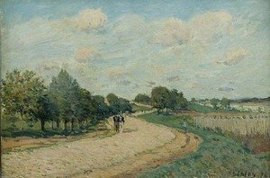 Alfred Sisley - The Route to Mantes