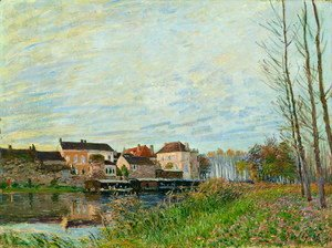 Alfred Sisley - Evening in Moret, End of October