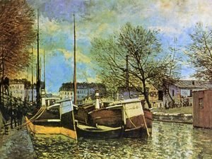 Alfred Sisley - Barges on the Saint-Martin Canal