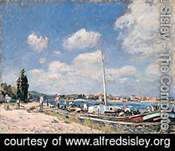 Alfred Sisley - Unloading the Barges at Billancourt