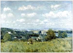 Alfred Sisley - Valley of the Seine at Saint-Cloud
