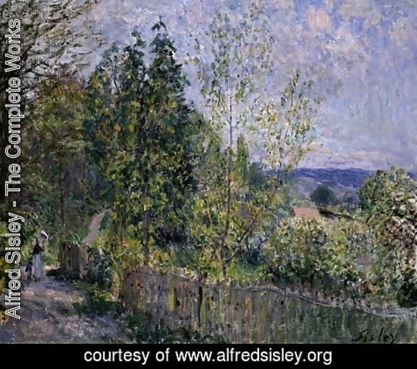 Alfred Sisley - The Road in the Woods
