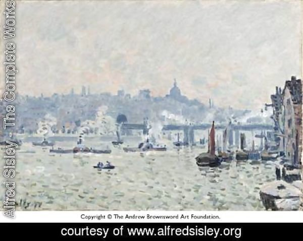 Alfred Sisley - View of the Thames: Charing Cross Bridge
