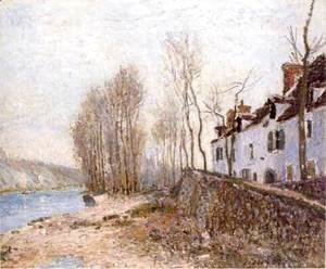 Alfred Sisley - Saint-Mammes, The White Cross