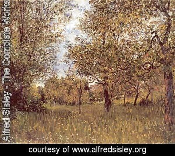 Alfred Sisley - The Small Meadow at By