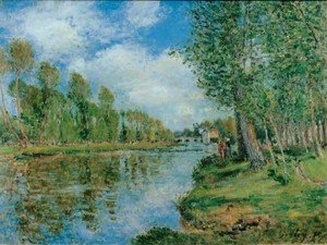Alfred Sisley - Banks of the Loing II