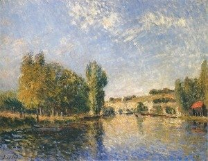 Alfred Sisley - The Loing at Moret I