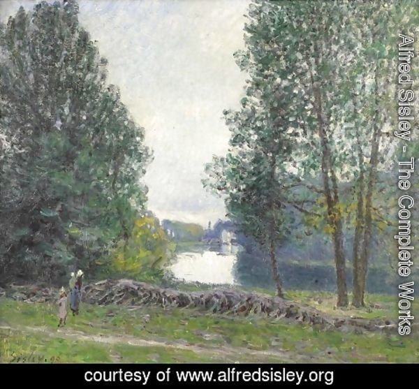 Alfred Sisley - Banks of the Loing, Winter