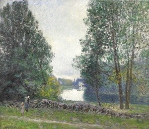 Banks of the Loing, Winter