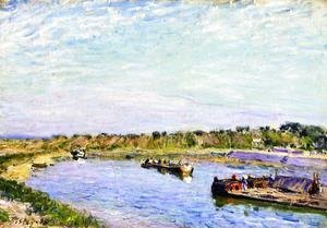 Alfred Sisley - The Port of Saint Mammes, Morning