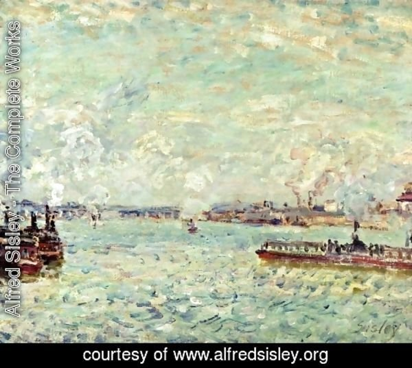 Alfred Sisley - The Seine at Point du Jour