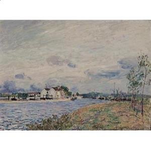 Alfred Sisley - The Embankments of the Loing at Saint-Mammes