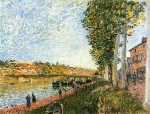 Alfred Sisley - Sunrise at Saint-Mammes