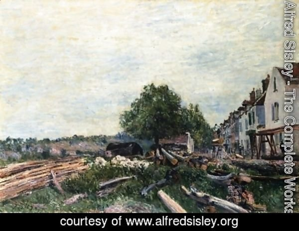 Alfred Sisley - Construction Site at Saint-Mammes I