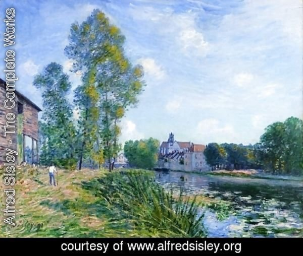 Alfred Sisley - The Loing at Moret in Summer