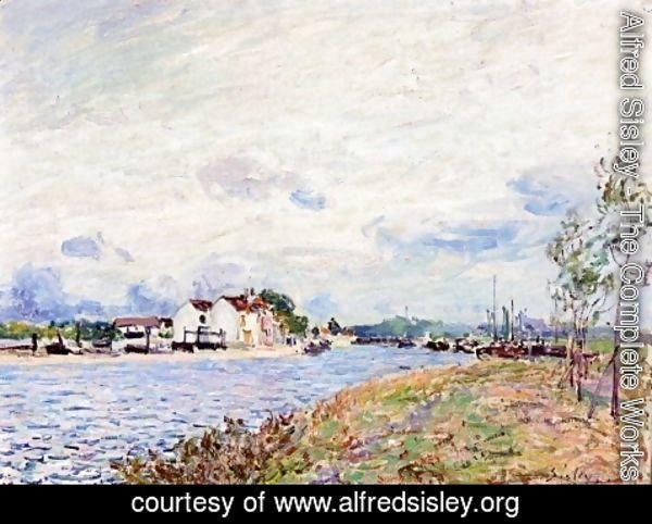 Alfred Sisley - The Mouth of the Loing at Saint-Mammes