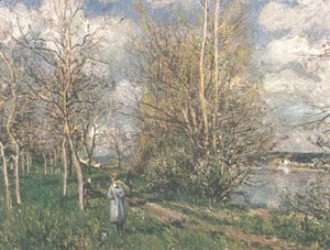 Alfred Sisley - Small Meadows in the Spring