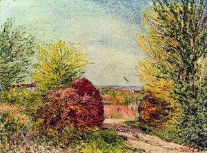 Alfred Sisley - Away in Veneux Nadon in spring