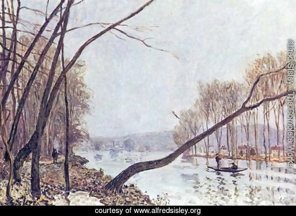 Bank of the Seine in the autumn
