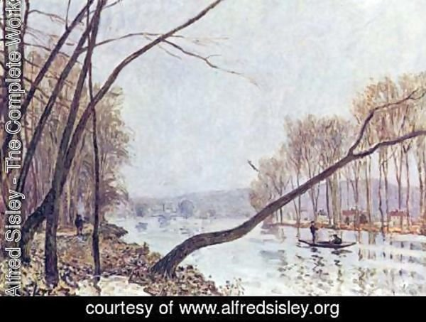 Alfred Sisley - Bank of the Seine in the autumn