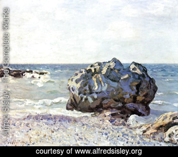 Alfred Sisley - Bay of long country with rock