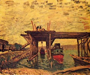 Alfred Sisley - Bridge in Bau