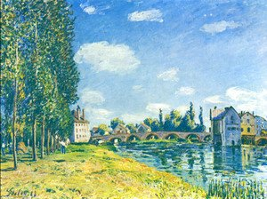 Alfred Sisley - Bridge von Moret at Summer