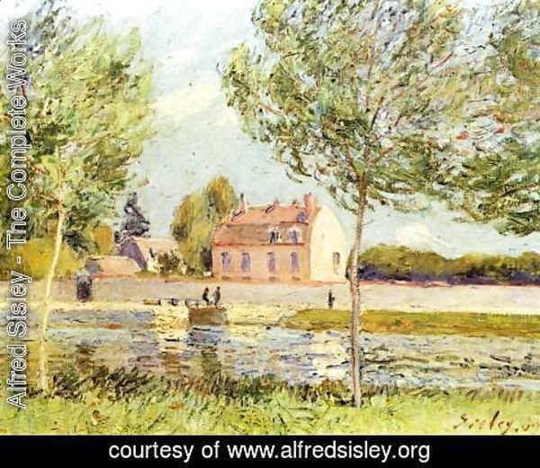 Alfred Sisley - Houses on the bank of Loing