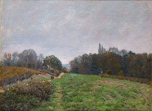Alfred Sisley - Landscape at Louveciennes 2