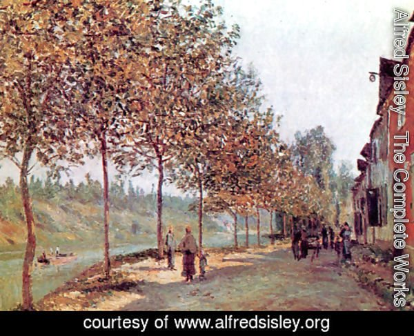 Alfred Sisley - Morning in June (also known as Saint-Mammes et les Coteaux de la Celle)