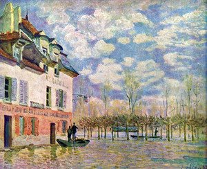 Alfred Sisley - Punt in the inundation