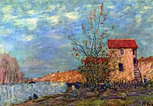 Alfred Sisley - The Loing bei Moret