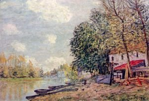 Alfred Sisley - The Loing in Moret