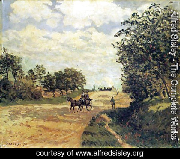 Alfred Sisley - The Road from Mantes to Choisy-le-Roi