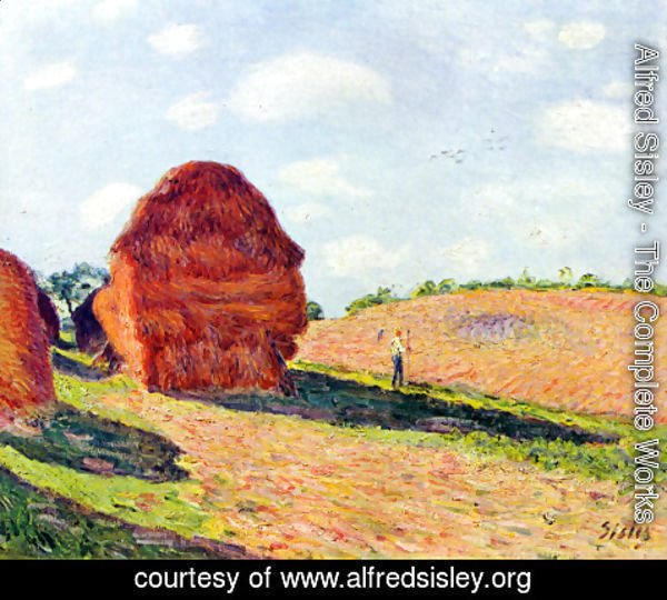 Alfred Sisley - The straw rents