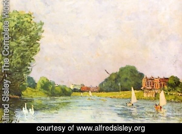 Alfred Sisley - Themse with Hampton Court
