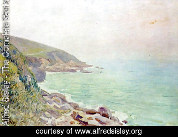 Alfred Sisley - Welshman coast in the fog