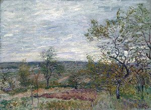 Alfred Sisley - Windy Day at Veneux (also known as La campagne aux Environs de Veneux)