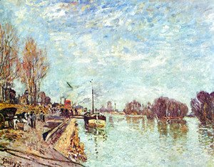 Alfred Sisley - The straw rents 3
