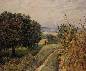 Alfred Sisley - Among the Vines  1874