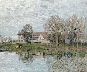 Alfred Sisley - Bords de Seine aA'A  Port-Marly