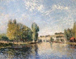 Alfred Sisley - Le Loing a Moret