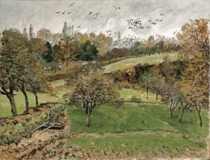 Alfred Sisley - Paysage d'automne aA'A  Louveciennes