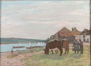 Alfred Sisley - Vaches au paturage