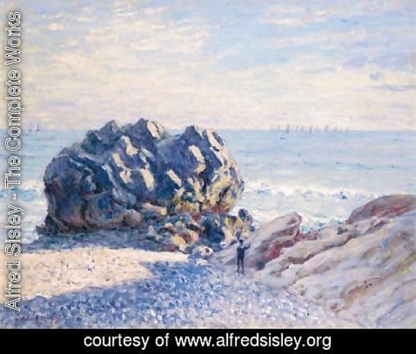 Alfred Sisley - Storr Rock, Lady's Cove - Le Soir