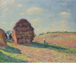 Alfred Sisley - Les Meules 2