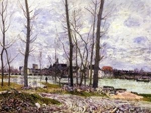 Alfred Sisley - L'Inondation A Moret-Sur-Loing